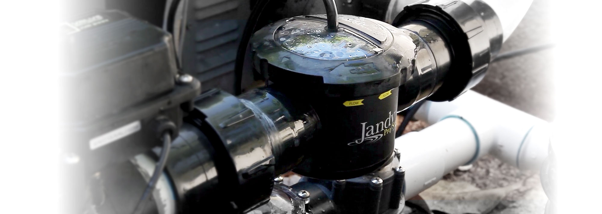 Jandy Equipment in a residential pool pad